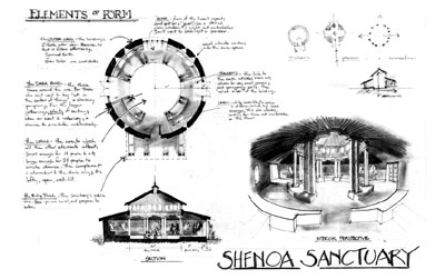 Annotated elements of form for Shenoa Sanctuary