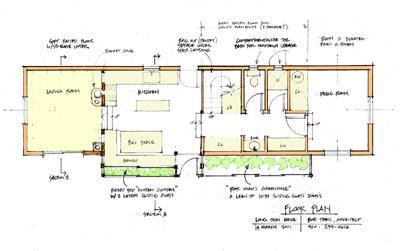 Bob theis prototypes long thin cottage for Prototype house plan
